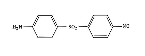 Struktura nitroderivát dapsonu