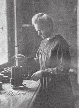 Marie Sklodowská-Curie, objevitelka radia.<sup>1</sup>