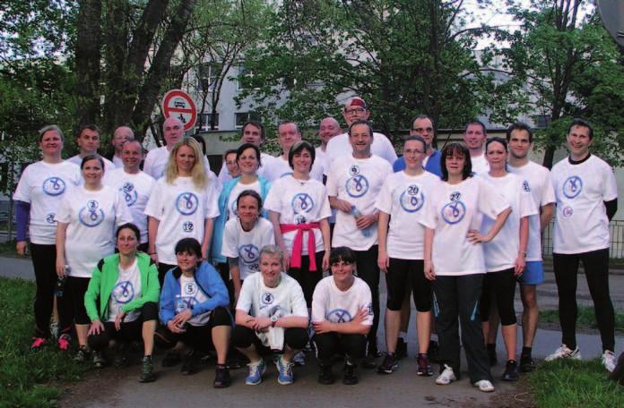 Účastníci běhu proti kolorektálnímu karcinomu. Fig. 2. The run against colorectal cancer participants.