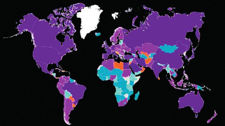 Celkové roční výdaje na zdravotní péči související s diabetem (20–79 let, 2015, v dolarech) Zdroj: <sup>©</sup> International Diabetes Federation, dostupné na webu www.diabetesatlas.org