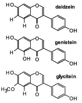 Strukturní vzorce aglykonů