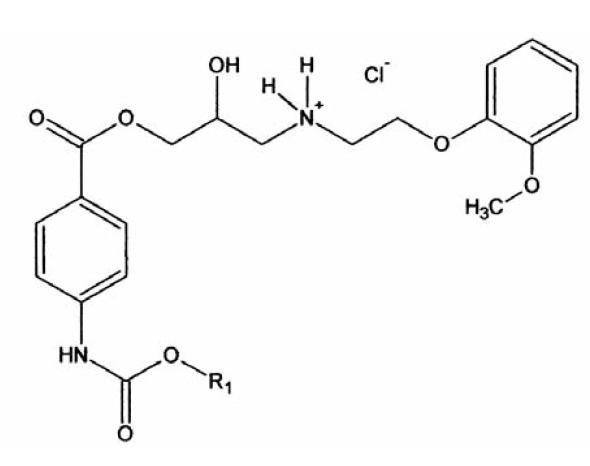 Hydrochlorid testovaných látok