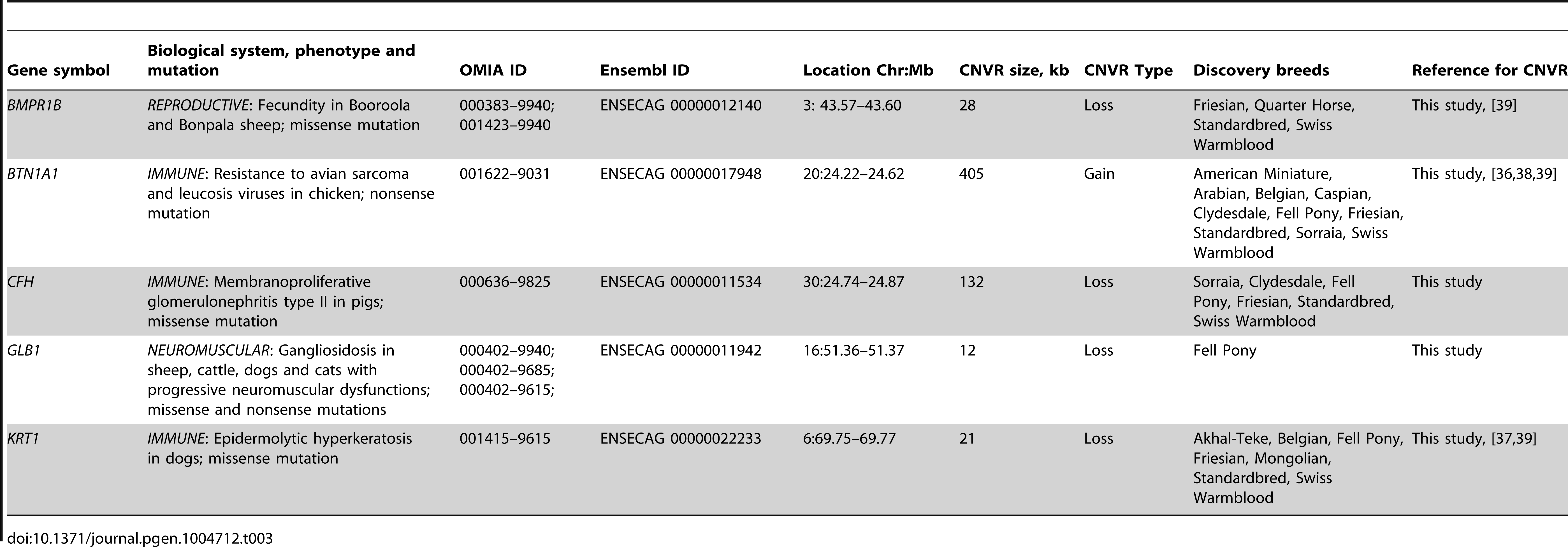 "Equine copy number variable genes with known mammalian phenotypes (OMIA; <a href=""http://omia.angis.org.au/home/"">http://omia.angis.org.au/home/</a>)."