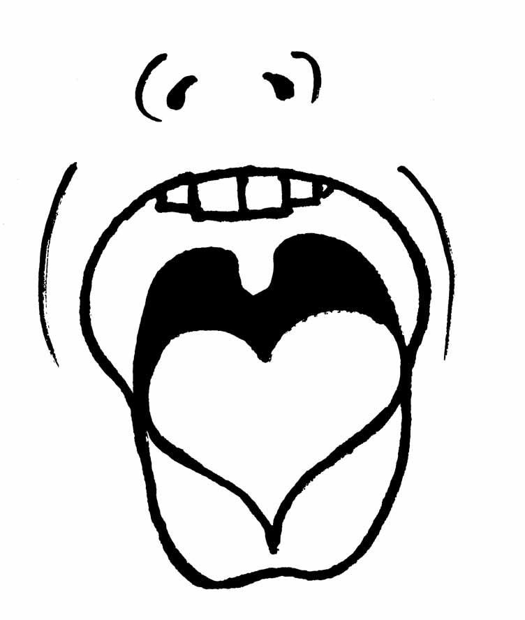Mít srdce na jazyku – být upřímný, přímý