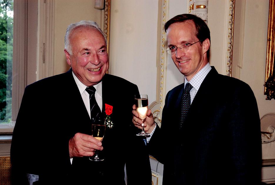 Prof. MUDr. Jaroslav Blahoš, DrSc. a velvyslanec Francie J. E. Ch. Friese
