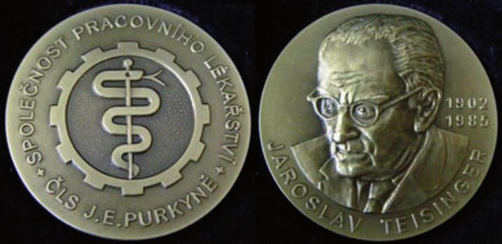 Čestná Medaile profesora Teisingera udělovaná Společností pracovního lékařství ČLS JEP