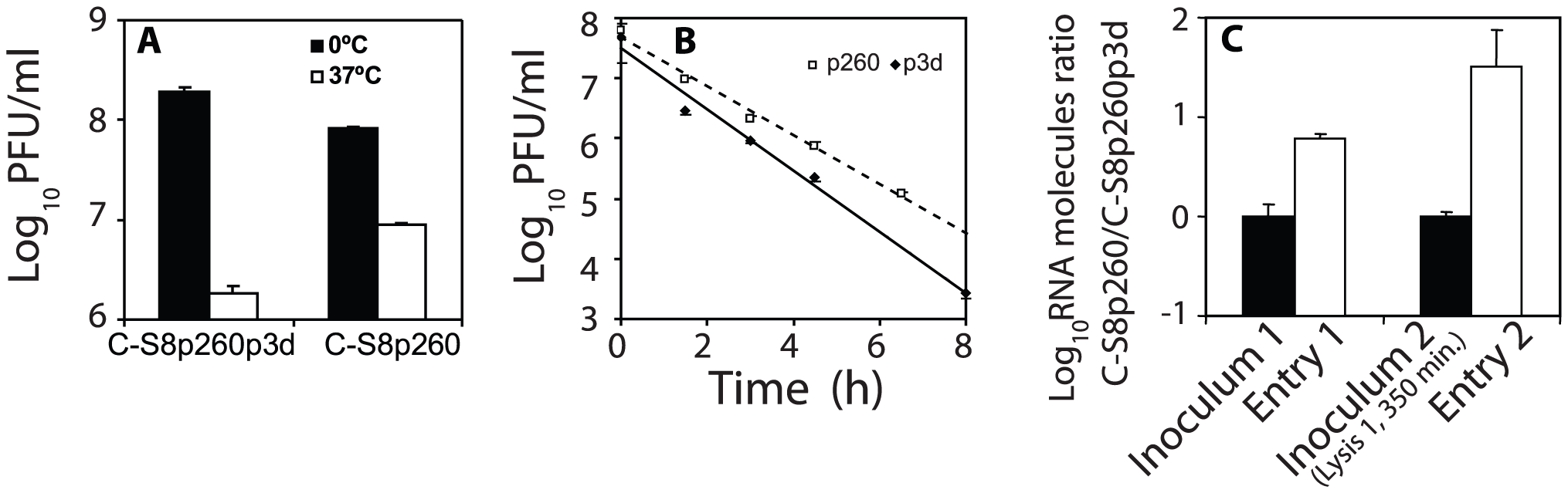 Decay of infectivity of FMDV particles.