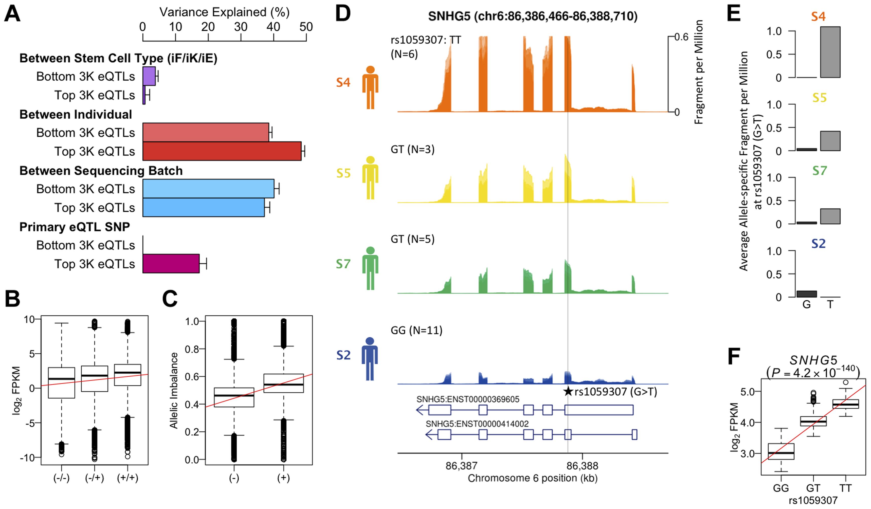 Genetic effects on transcription in iPSCs.