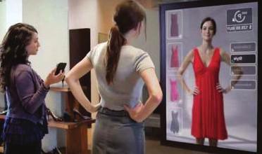 Virtuálne skúšanie odevu.