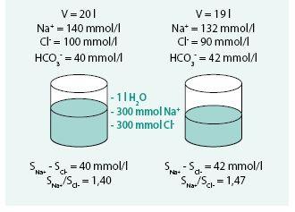 Model deplece sodíku a vody (depleční hyponatremie hypovolemická)
