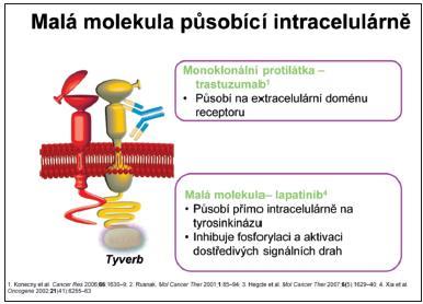 Lapatinib je aktivní malá molekula vyvinutá k perorálnímu použití
