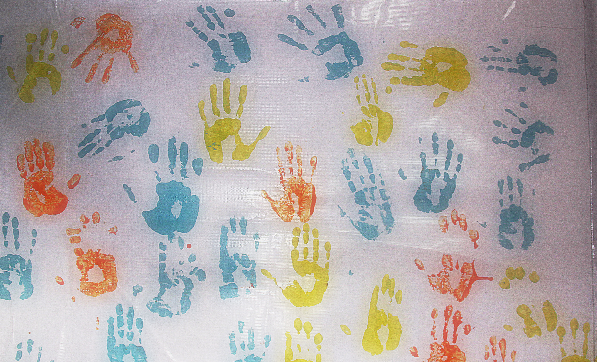 Handprints made during dissemination project.