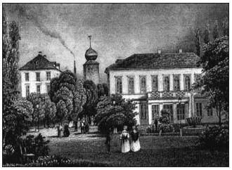 Pohled na Žofín v polovině 19. století.