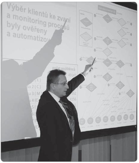 Fig. 2. Assoc. Prof. Ladislav Dušek, Ph.D. introduces the methodology of personalised invitation.