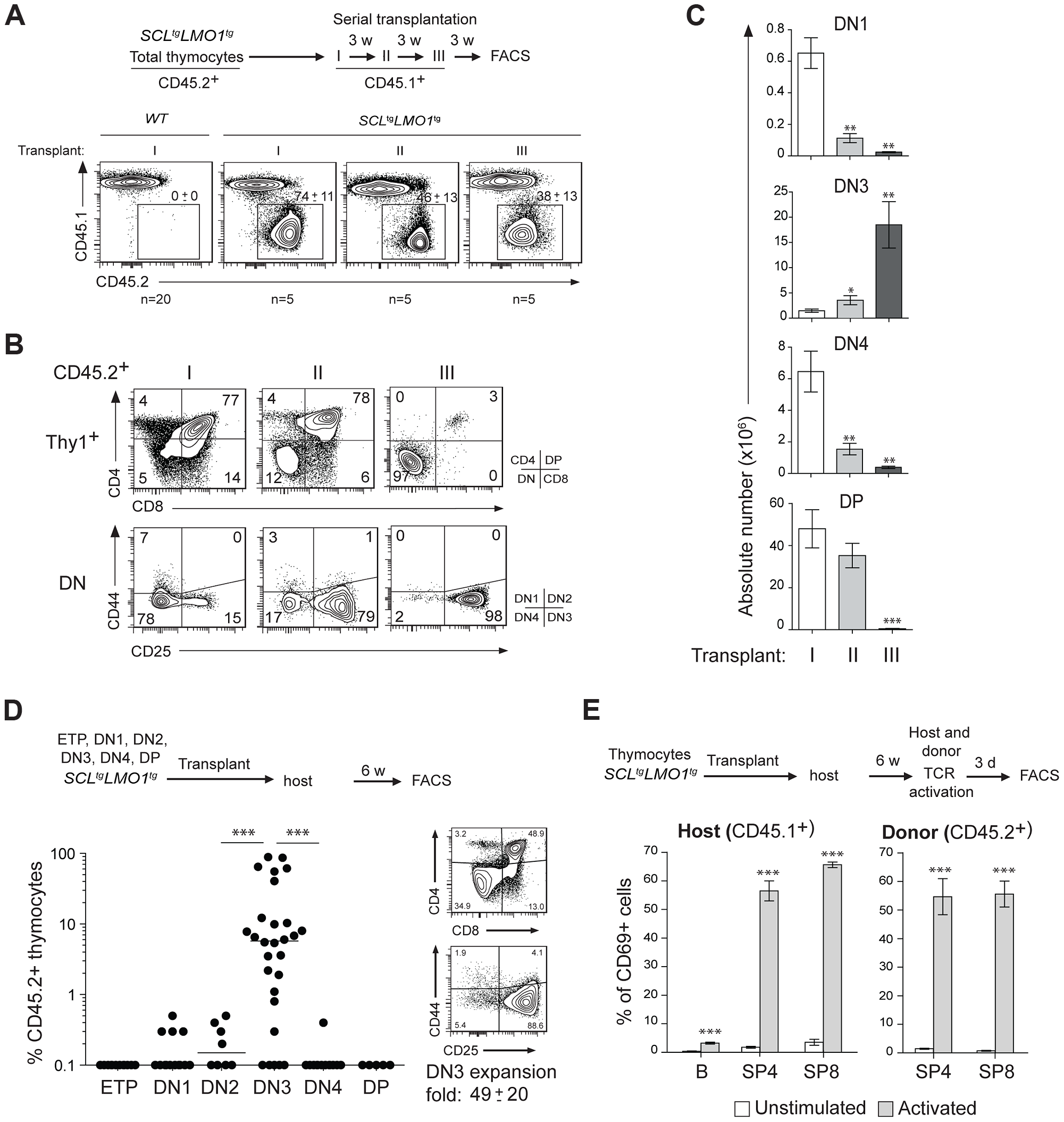 The <i>SCL</i> and <i>LMO1</i> oncogenes confer an aberrant self-renewal potential to DN3 pre-leukemic thymocytes.