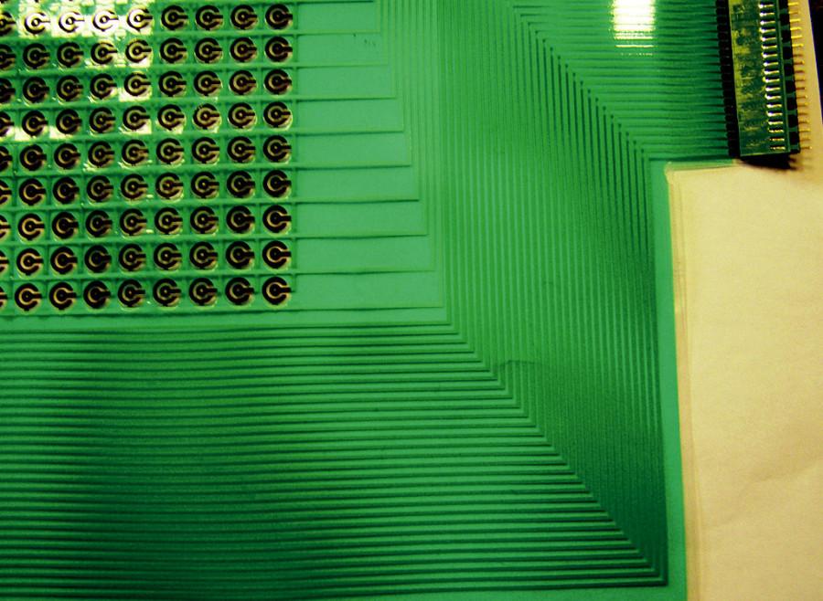 Realizace elektrodového pole na pružné membráně