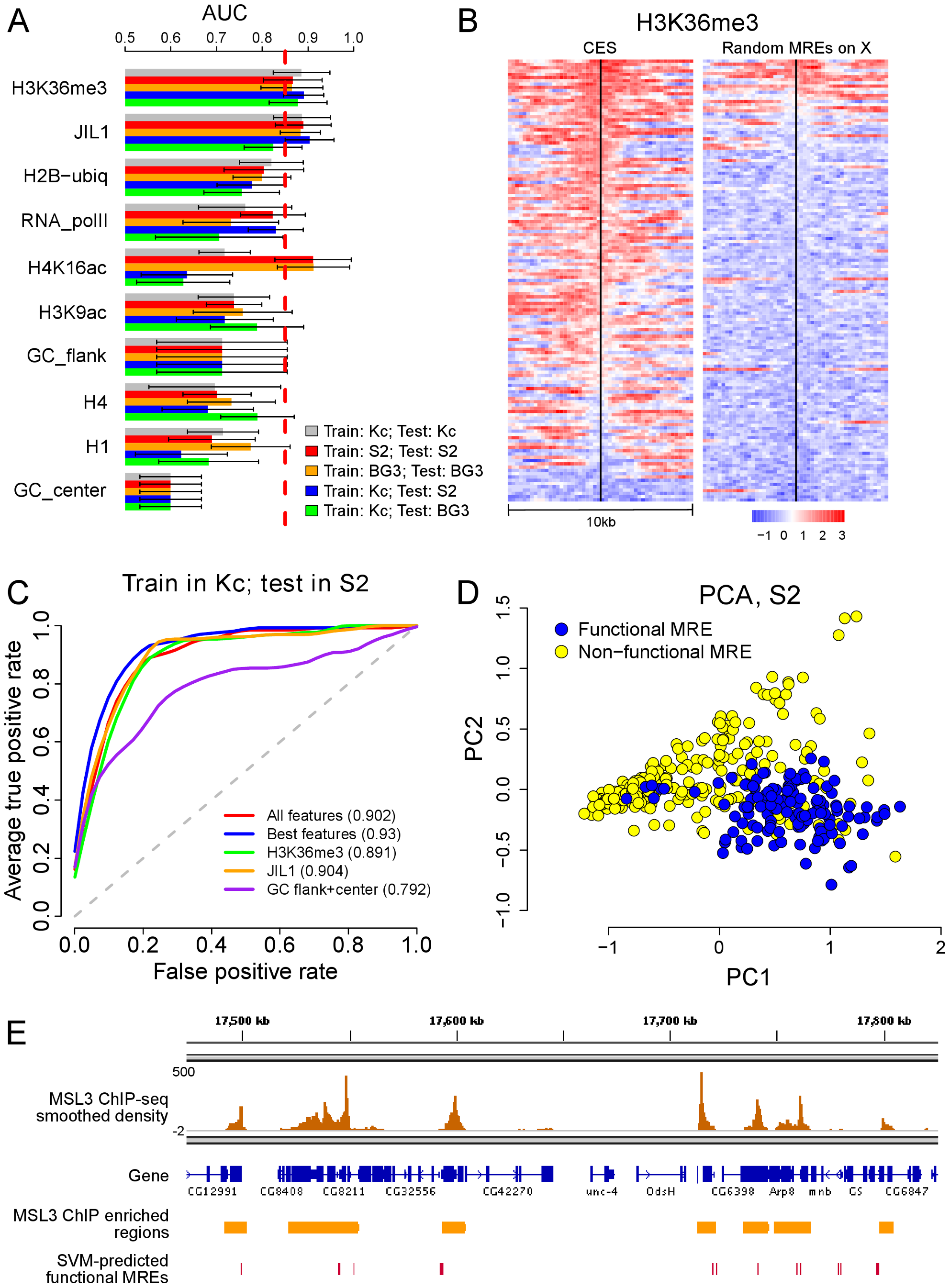Chromatin context is predictive of functional MREs.