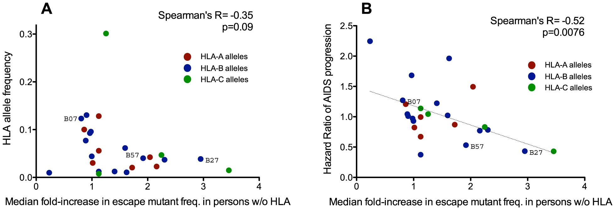 Protective HLA alleles are associated with the greatest relative increases in HLA-associated polymorphism background frequencies.