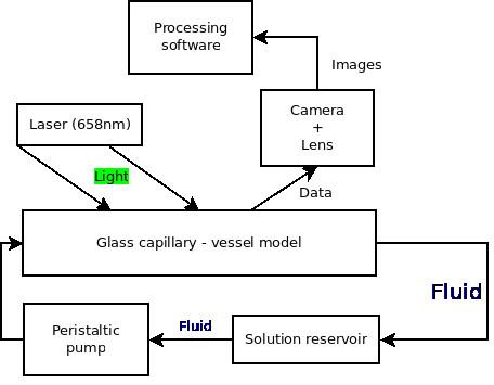 Fig. 1: Block diagram of our measuring set for LSCI method.