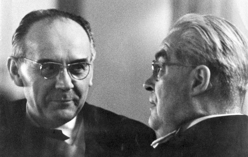 Profesor V. Šnaid se svým učitelem prof. K. Klausem, 1967 (foto P. Hněvkovský)