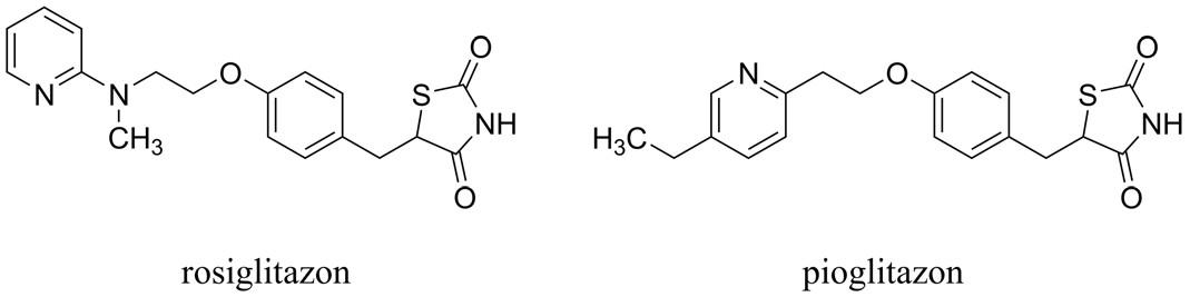 Zástupci agonistů působících na receptorech aktivovaných proliferátory peroxizomů