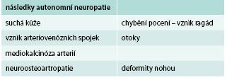Autonomní neuropatie jako riziko pro rozvoj syndromu diabetické nohy