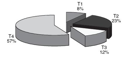 Složení souboru podle hodnot T.
