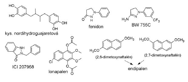 Štruktúry redoxných inhibítorov