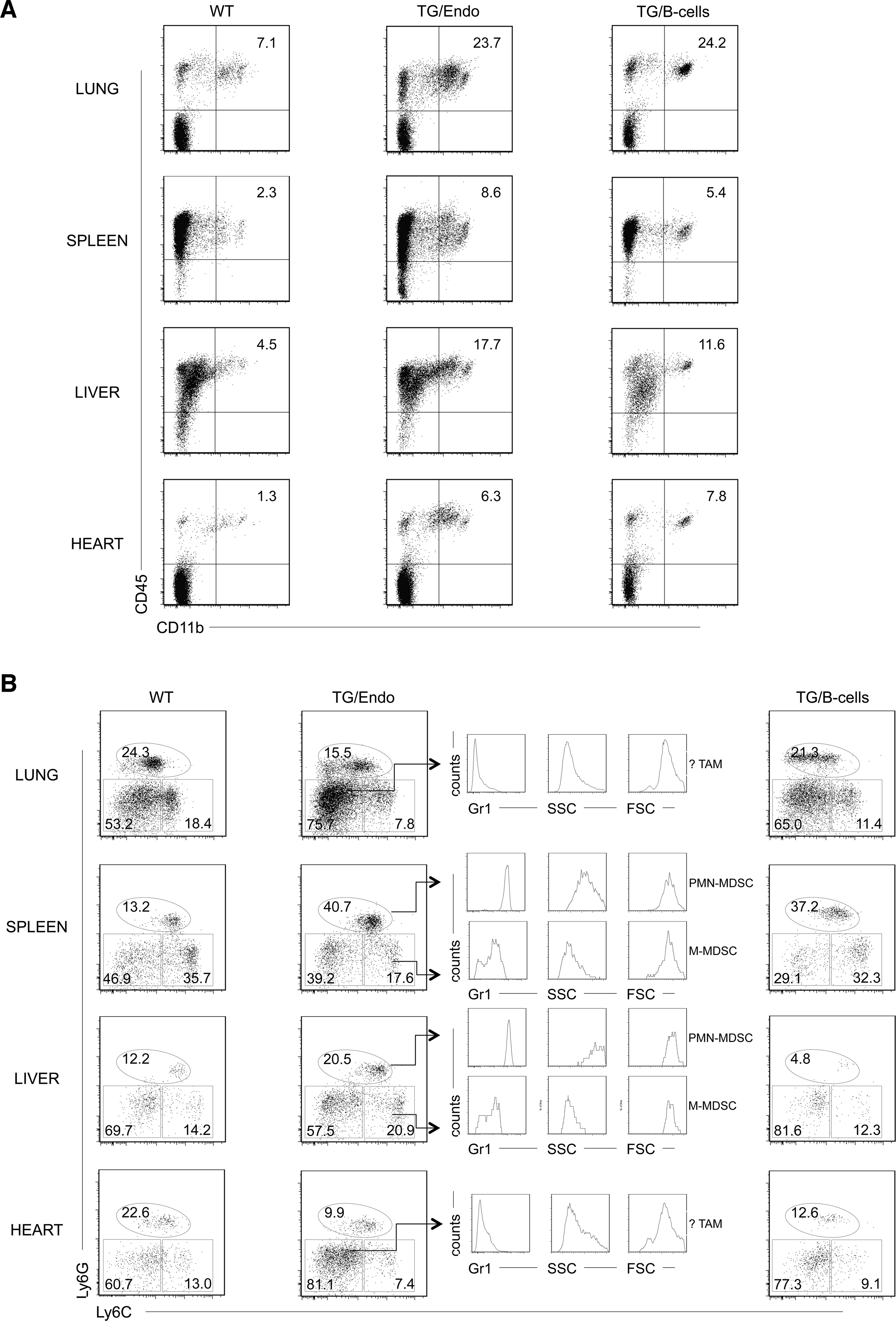 Expansion of myeloid cells with PMN-MDSC immunophenotype.