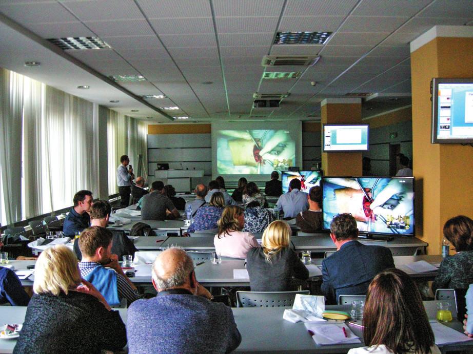 Živé přenosy ze sálu byly základem celého workshopu.