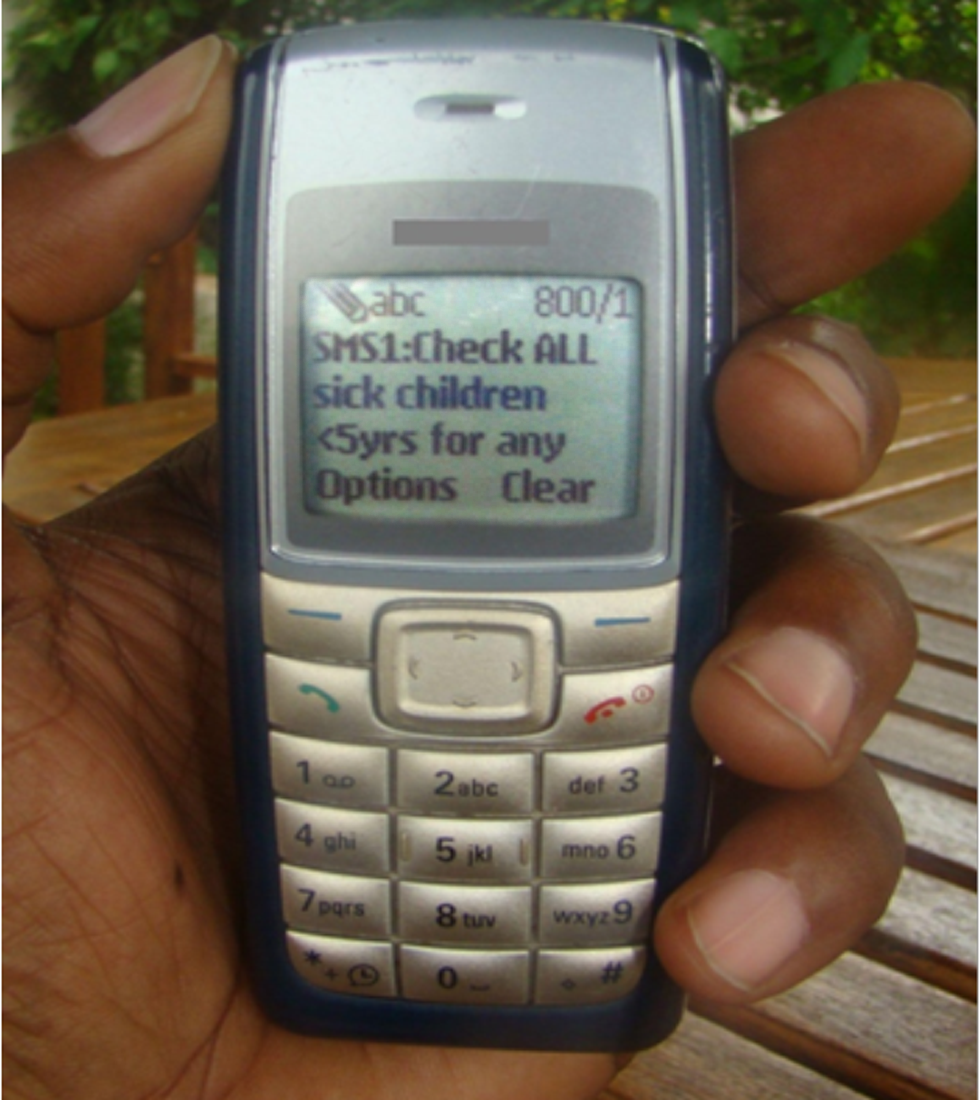 Example of mobile phones common in rural Africa.