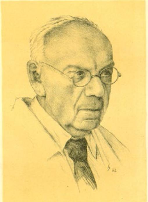 Prof. Ladislav Borovanský jako přednosta Anatomického ústavu v roce 1962 (portrét od prof. Otakara Hněvkovského)