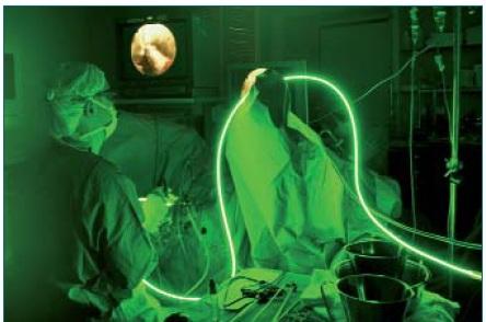 Schéma 1a. Operace využívající GreenLight laser.