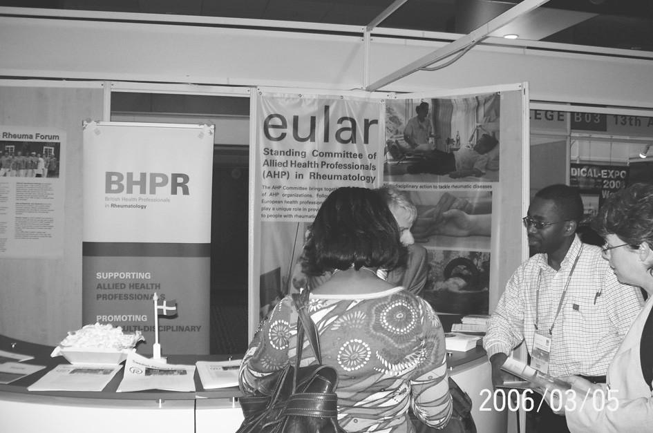 Stánek zdravotníků nelékařů určený k setkáním/výměně informací účastníků kongresu.