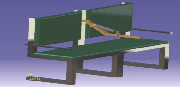 Fig. 2: 3D design of rehabilitation device.