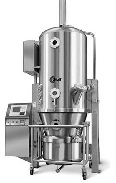 Fluidní granulátor GLATT (převzato z www.pharmaceuticalonline.com)