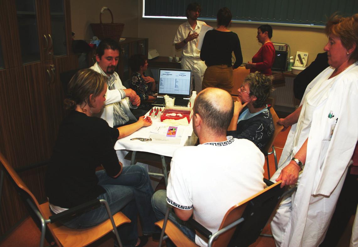 Alergologické vyšetření pomocí prick testů a intradermálních testů (dr. Novosad).