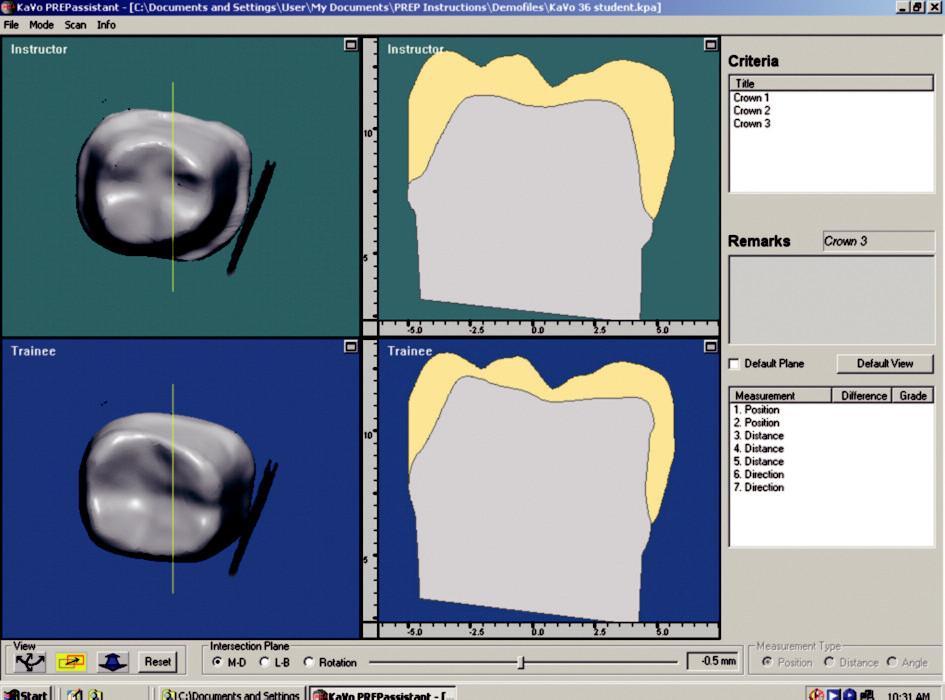 Hlavní okno s 3D a 2D grafickými oddíly.