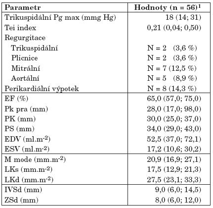 Echokardiografie a kardiologické patologie.