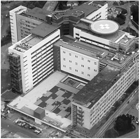 Sídlo Dětského kardiocentra v dětském monobloku ve Fakultní nemocnici v Motole