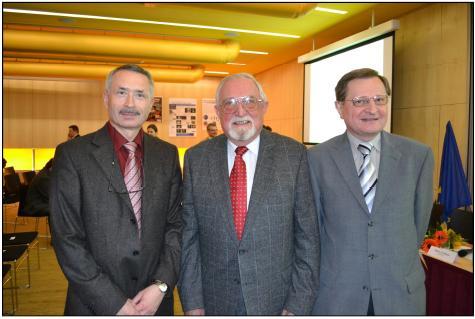 Tři generace primářů úrazovky, zleva MUDr. K. Edelmann, Ph.D., MUDr. O. Trefný, CSc., MUDr. J. Houser