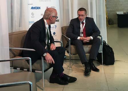 Foto 2. Natáčení rozhovoru pro KNOU TV: prof. Babjuk a doc. Dušek Photo 2. Shooting an interview for KNOU TV: prof. Babjuk and doc. Dušek