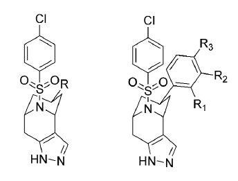 Bicyklické sulfonamidové pyrazoly