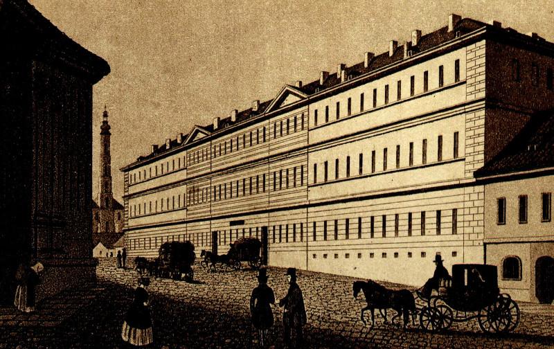 Všeobecná nemocnice v polovině 19. století