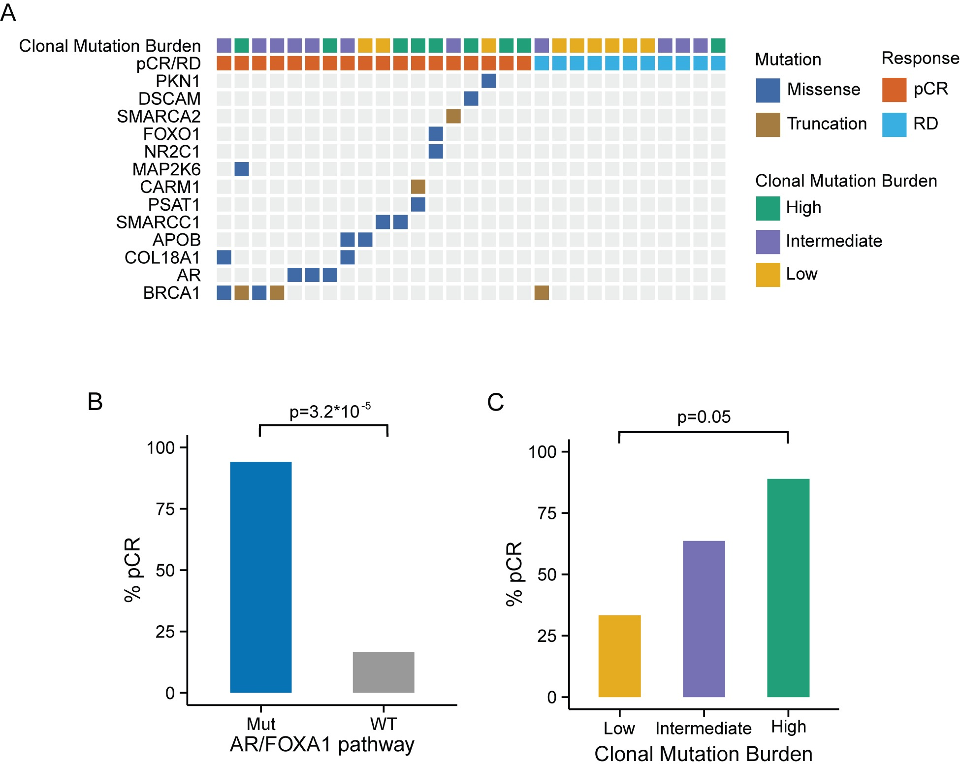 Genomic markers predictive of chemosensitivity in the MDACC triple negative breast cancer dataset.