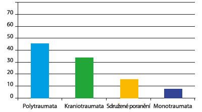 Rozdělení úrazů (%)