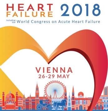 Znak Evropského kardiologického sjezdu srdečního selhání, Vídeň 2018.