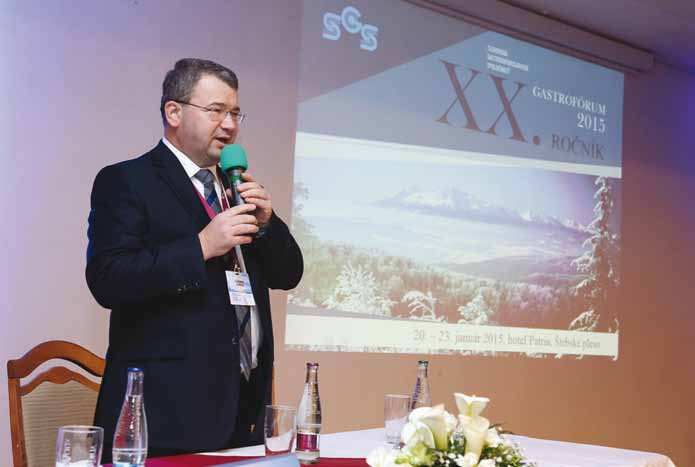 Otvorenie XX. Gastrofóra prezidentom SGS doc. Jurgošom.