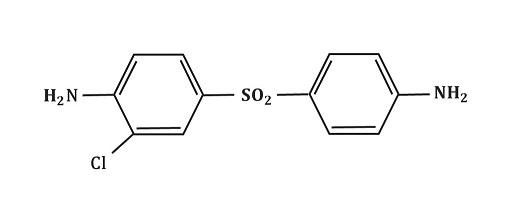 Struktura chlorodapsonu