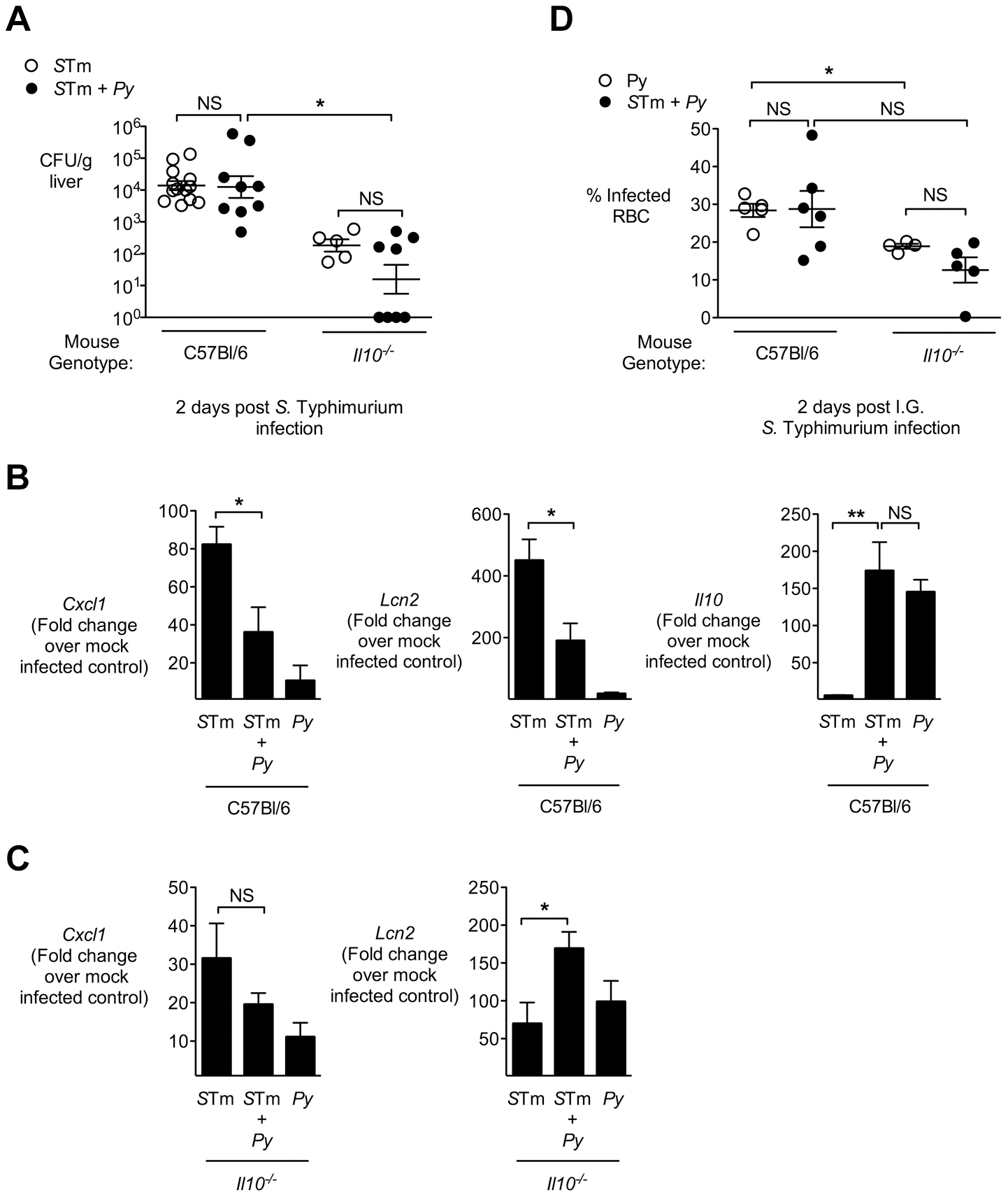 IL-10 contributes to blunting of neutrophil chemokines in livers of malaria parasite-infected C57BL/6 mice.